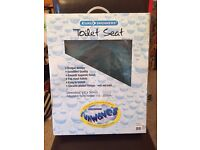 Fun 'Blue Bubbles' toilet seat. **BRAND NEW. BOXED. STILL CELOPHONE WRAPPED **