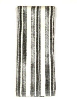 Kitchen Dish Terry Cloth/Velour Hand Towel Gray Stripes 25