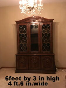 China Cabinet for sale.  $80.00 O.B.O