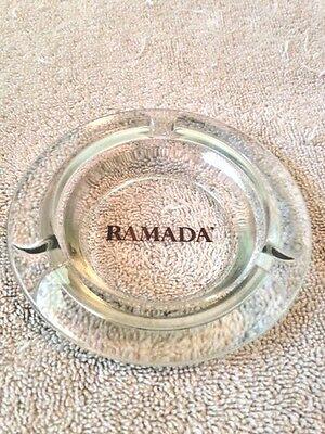 Vintage Ramada Inn Hotel Glass Ashtray