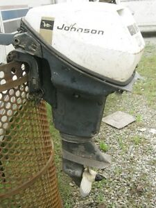 1969 Johnson 9.5HP Outboard for Possible Repair or Parts.