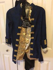 "Pirate Costume, Size M Coat, Top, Sash, and leg covers (""boots"")"