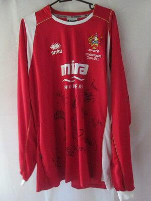 Cheltenham Town 2008-2009 Squad Signed Home Football Shirt COA  /12590 image