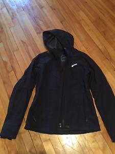 Manteau femme de marque Orage noir avec capuchon
