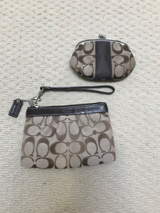 Coach small wristlet and coin purse