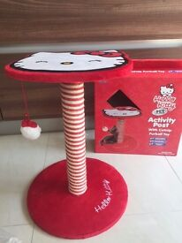 Hello Kitty Scratching Post plus toys including mouse, ball, teaser, cat nip biscuits.Collect Fulham