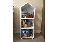 White Bookcase/Shelves Unit for Nursery or Kids Room
