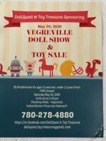 2nd Annual Vegreville Doll & Toy Show & Sale