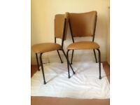 2 x Stylish Retro Kitchen Chairs