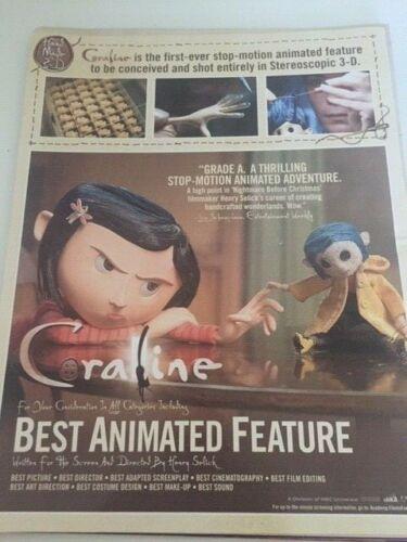 Coraline with Doll RARE  OSCAR AD
