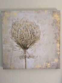 Gold and Grey - 60x60 Next Artwork Canvas Picture