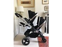 Black iCandy peach blossom double buggy in excellent condition