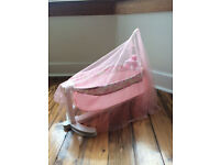 Baby Annabell swinging and musical cot £20