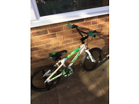 "Apollo Force BMX 10"" frame, stunt pegs, 18"" alloy wheels. Age 6-9 approx. Only £18"