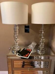 GORGEOUS CRYSTAL TALL TABLE LAMPS AT GRAB DEALS$95 EACH RE$397