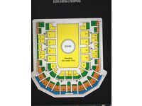 TWO TAKE THAT TICKETS**LIVERPOOL**22.05.17**BEST SEATS**BLOCK 14