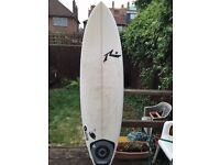 "Rusty Piranah 6'8"" Quad surfboard + Rhino travel bag (7' -7'2"")"