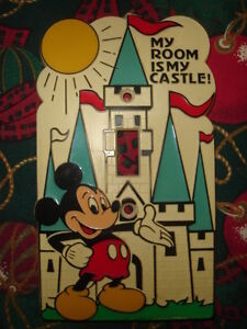 """~RARE ~ VINTAGE MICKEY MOUSE SWITCH """"MY ROOM IS MY CASTLE $19.99"""
