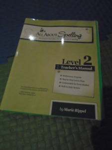 ALL ABOUT SPELLING-TEACHER MANUAL-BRAND NEW