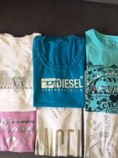 6Designer T-shits  Armani Exchange, Diesel, Victoria Secret,Guess