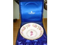 Large Limited Edition Coalport 3 legged Bowl Queen's Silver Jubilee