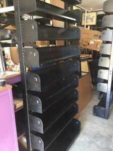 Black 9 shelf racking / shelving