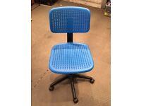blue desk chair