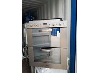 'Kompact' Stainless Steel Built In Double Electric Oven- Excellent Condition / Free local delivery