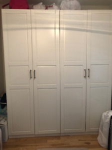 IKEA Pax Wardrobes in White