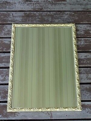LARGE Vintage Gold Mid Century Hollywood Regency Ornate Wood Frame Wall Mirror