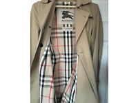 Burberry Kensington Trench Coat and bag size 12 Honey AS NEW!!