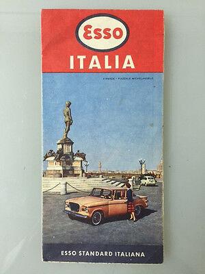 1959 Esso Standard Italiana *Italy Road Map* ...Great Condition!