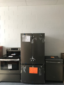 GE Dishwasher, stove and fridge sold as package. Brand new