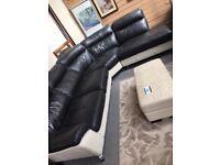 Black & White/Cream Corner Sofa in great used condition.