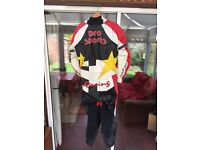 One piece quality leather motorcycle suit