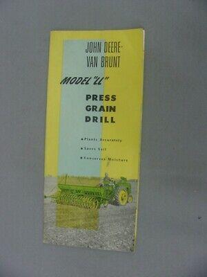 John Deere Van Brunt Ll Press Drill Product Brochure - 1953