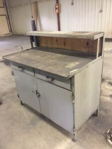 Heavy Duty Steel Industrial Work and Storage Table