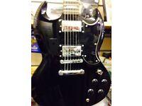 Westfield SG Electric Guitar Gloss Black