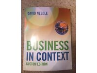 Business in Context by David Needle (Custom Edition)