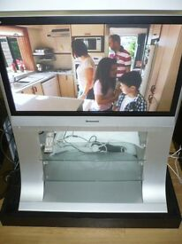 "BARGAIN Panasonic TH42PX60 42"" HD READY PLASMA TV with matching cabinet stand. SOLD AS SEEN"