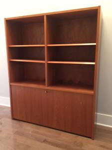 Meuble bibliothèque en bois de TECK// PRIX REDUIT
