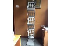A4 Zedup leaflet holder - Double sided - 6 trays - Steel folding POS display stand