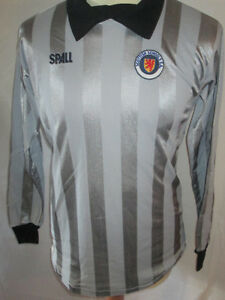Scotland-Schools-FA-Match-Worn-Goalkeeper-1985-Football-Shirt-with-COA-9675