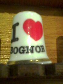 I LOVE BOGNOR collectable thimble
