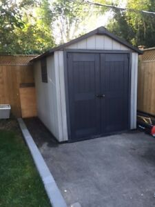 LAST DAY BRAND NEW SHED SLIGHTLY USED GIVE ME BEST OFFER
