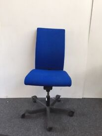 Royal Blue 3 Lever Adjustable Swivel Chair - Home Office Study