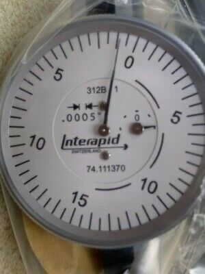 Interapid 1-12 Dial Horizontal Indicator 312-b1 74.111370 - New In Box