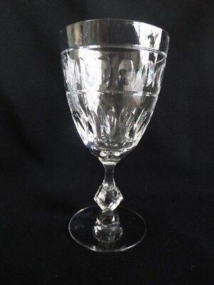 Vintage Tiffin Elegant Cut Glass Water Goblet 17524 stem Berwick Pattern