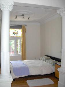 chambre meublée sous-loc près parc Lafontaine, sud Plateau