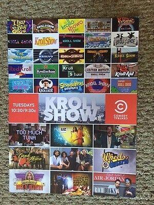 Kroll Show Poster *UNRELEASED RARE PRINT* (11x16) - Nick Kroll